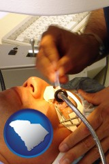 south-carolina map icon and lasik laser eye surgery for vision correction